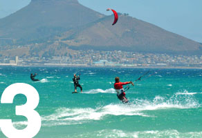 Inexpensive refresher kitesurfing lessons Cape Town