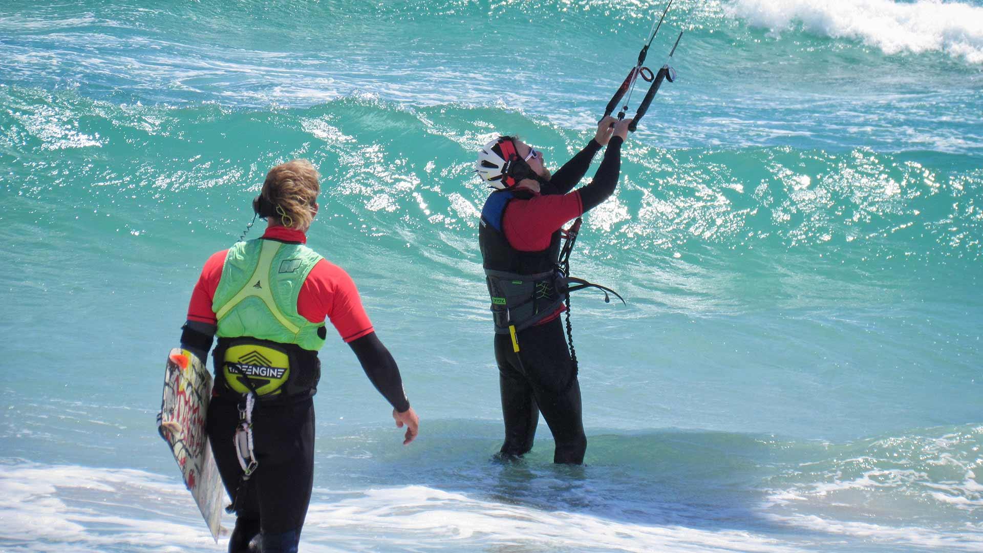 kitesurfing course beginners