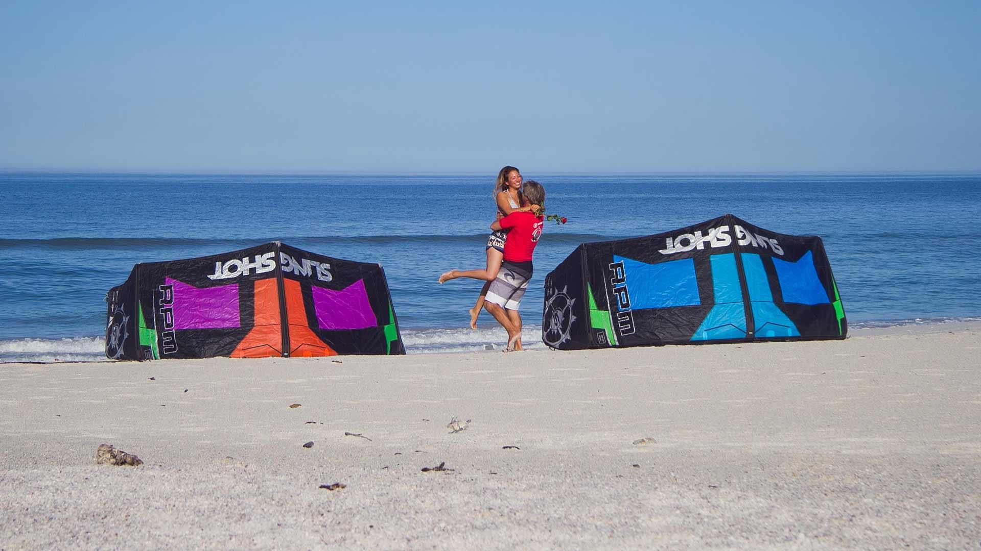kitesurfing lesson success