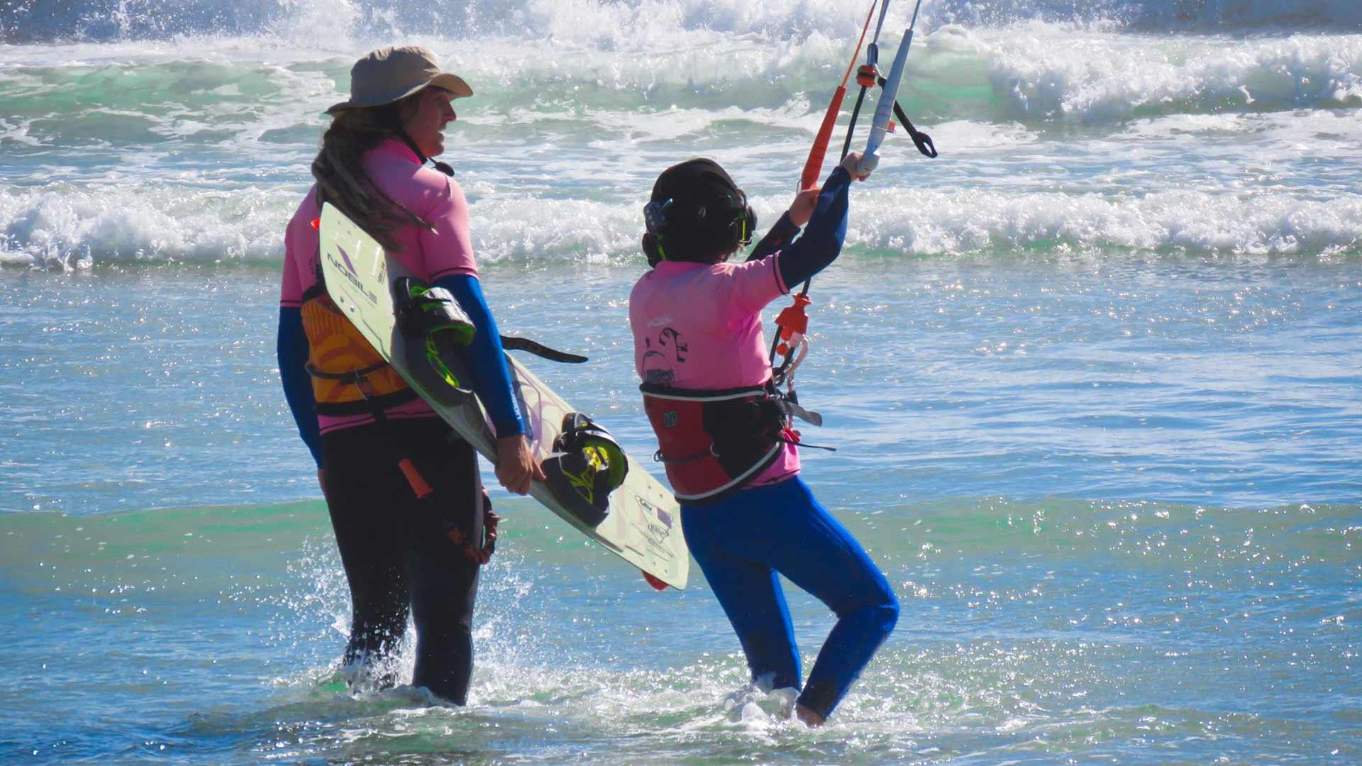 kitesurfing bond father son