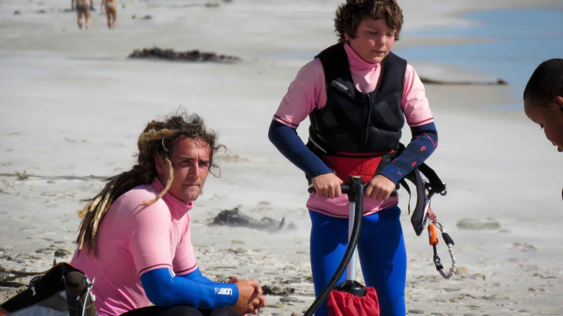 kitesurfing lessons father son