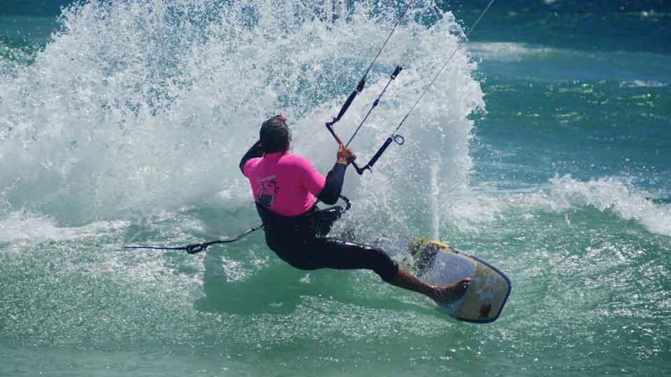 lesson wave kitesurfing